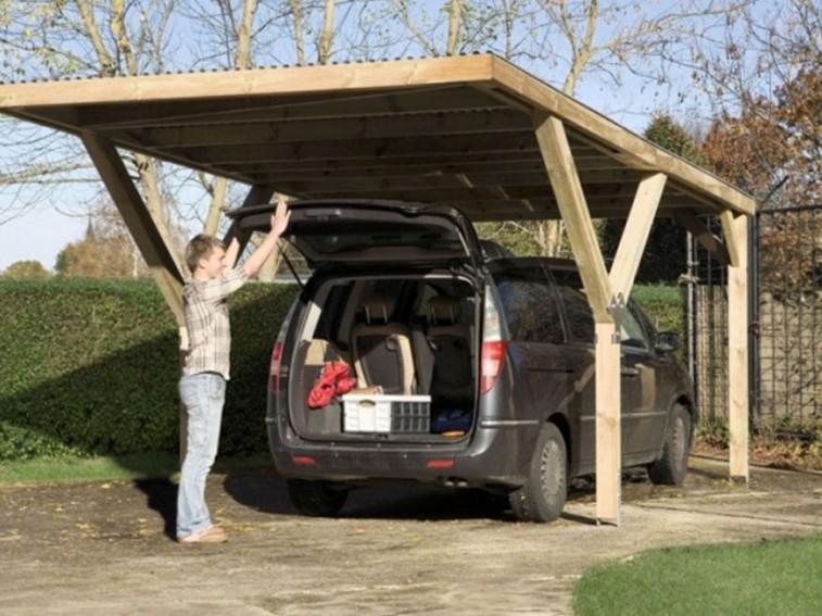 Kerti garázs fából: egyszerű és nyitott  hobbikert.hu